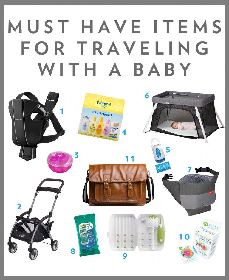 Travel essentials with a baby